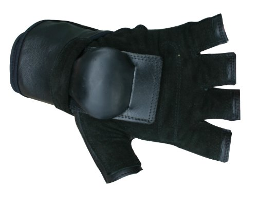 Hillbilly Wrist Guard Gloves - Half Finger (Black, Medium)
