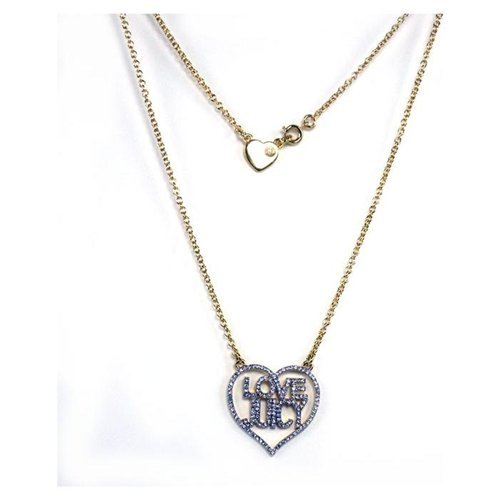 Juicy Couture Jewelry Pave Crystal Love Juicy Wrap Necklace