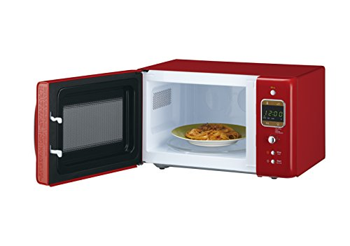 Daewoo KOR7LBKR Retro Style Microwave Oven, 20 L, 800 W, Red