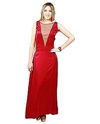 Emmylyn Red Slik Gown