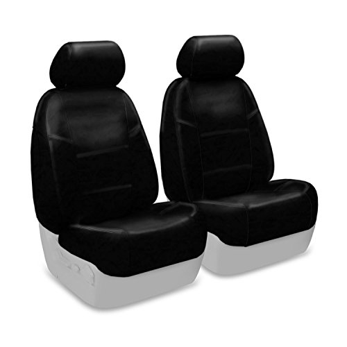 Coverking Custom Fit Front 50/50 Bucket Seat Cover for Select Infiniti FX-35/45 Models - Premium Leatherette Solid (Black) (Fx 35 Seat Cover compare prices)
