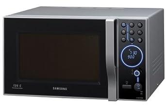 Samsung CE-1185UB Mikrowelle mit Grill + Heißluft  / 32 Liter Garinnenraum / 900 Watt / silber-schwarz