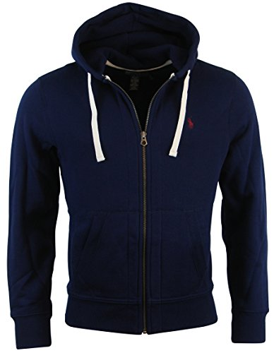 Polo Ralph Lauren Classic Full-Zip Fleece Hooded Sweatshirt - S - Navy
