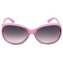 Eyeland Non-Polarized Oval Sunglasses (Pink, EYE167)