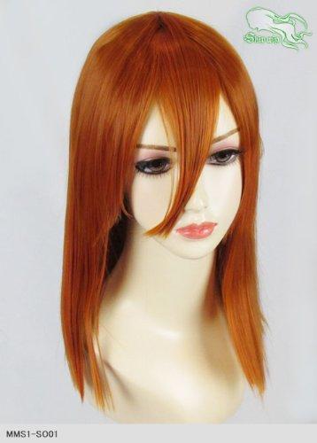 スキップウィッグ 魅せる シャープ 小顔に特化したコスプレアレンジウィッグ フェアリーミディ オレンジブラウン