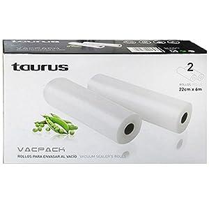 Taurus 999.184 - Set de rollos para Vacpack, 22 cm x 6 m   Comentarios de clientes y más información
