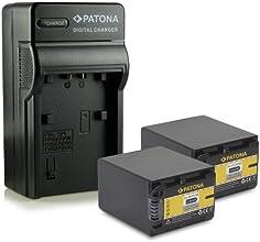 Nouveauté - 4en1 Chargeur + 2x Batterie comme NP-FV100 / NP-FV90 pour Sony DCR-SR15E   DCR-SR37E   DCR-SR38E   DCR-SR47E   DCR-SR48E   DCR-SR57E   DCR-SR58E   DCR-SR67E   DCR-SR68E   DCR-SR77E   DCR-SR78E   DCR-SR87E   DCR-SR88E   HDR-XR100E   HDR-XR105E   HDR-XR106E   HDR-XR150E   HDR-XR155E   HDR-XR160E   HDR-XR200E   HDR-XR200VE et bien plus encore...