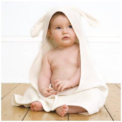 JoJo Maman Bebe Bunny Hooded Towel - White