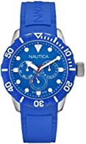 Nautica Unisex N13649G NSR 101 Multi- South Beach Classic Analog with Enamel Bezel Watch