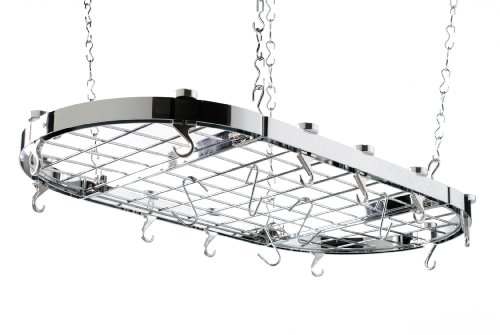 Hahn Ceiling Rack Oval Chrome