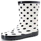 Hellozebra 長靴 レディースシューズ ファッション 防滑 軽量 23.5cm ホワイト