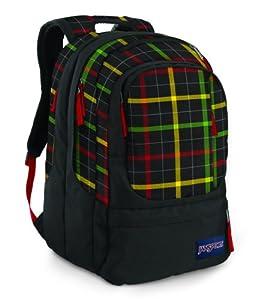 Jansport Air Cure (EU) Backpacks - Black/Rasta London Plaid