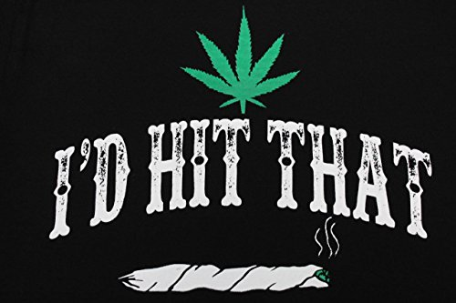 b1d179243 I'd Hit That Marijuana 420 Pot Weed Stoner Men's Funny T-Shirt ...