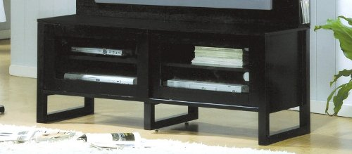 Cheap Contemporary Black Finish LCD / Plasma Flat Panel TV Stand (VF_700172T)