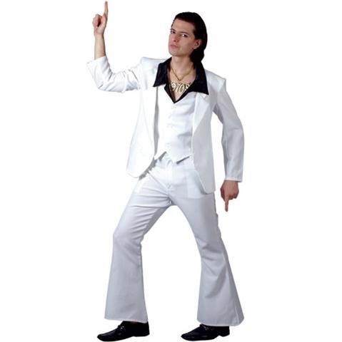 Wicked S Mens 70's Disco Fever Costume for 70s Fancy Dress