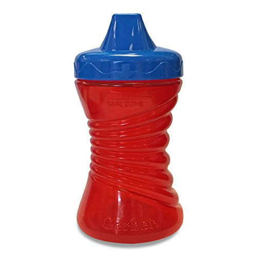 Gerber Graduates Fun Grips Hard Spout Sippy Cup in Assorted Colors, 10-Ounce - 1