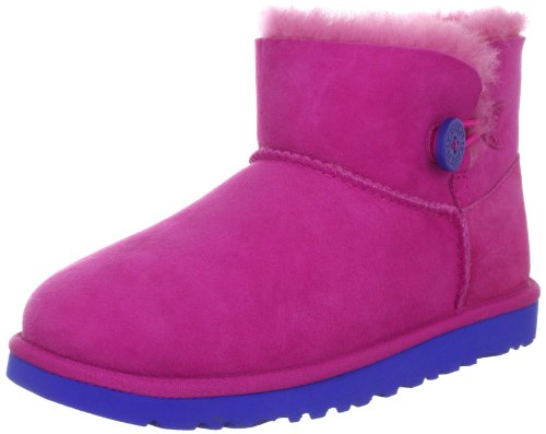 UGG Australia Children's Mini Bailey Button Little Kids,Fuchsia,US 13 M