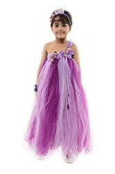StyleMyKidz Girls' Dress (GTU103_3 Years, Purple, 3 Years)