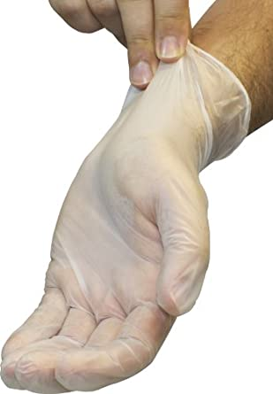 Safety Zone GVP9-LG-1 Powder Free Disposable Clear Vinyl Gloves, Large (Box of 100)