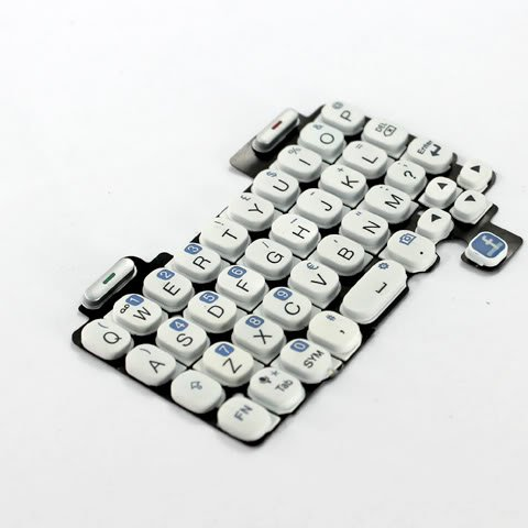 Original OEM Genuine White QWERTY English Keyboard Keypad Key Keys Button Buttons Cover For HTC ChaCha A810e / ChaChaCha Fix Repair Replace Replacement