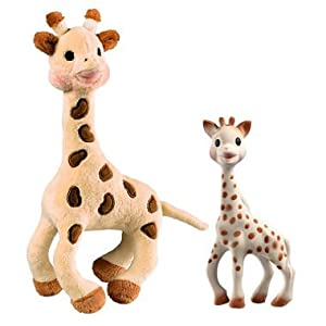 Sophie the Giraffe with teether and soft plush toy