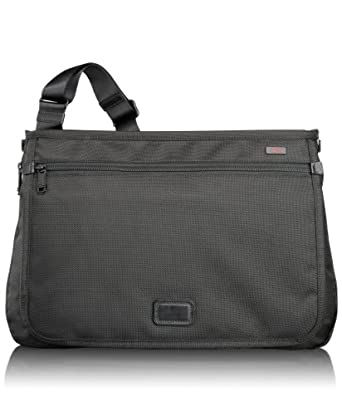 Tumi Luggage Alpha Slim Messenger Bag, Black, Small