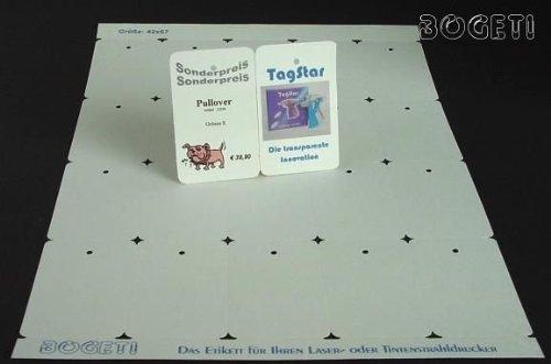 Bogeti étiquettes 190 g/m ² en carton (enso 100 feuilles a4): 42 x 67 mm