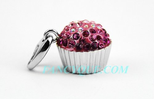 judith-leiber-sweetie-cupcake-pink-swarovski-crystal-charm-18k-gold-pltd-new-box-by-unknown