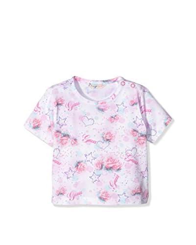 Guess Camiseta Manga Corta Rosa / Blanco 6-9 Meses (68/74 cm)