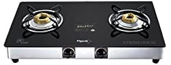 Pigeon Blackline Square SS Gas Stove, 2 Burner