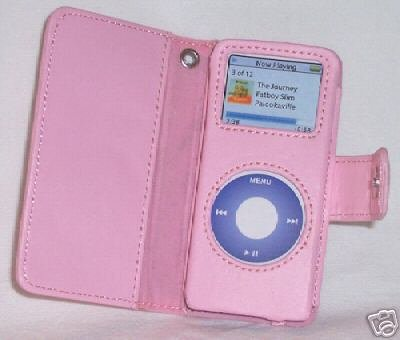 Leather Case for Apple iPod nano - Pink