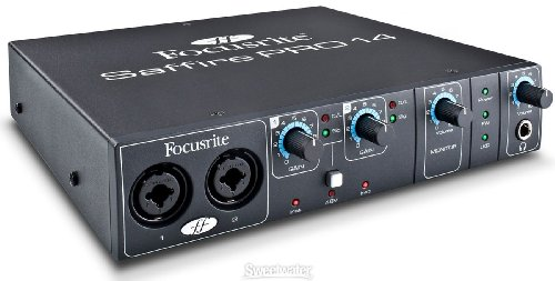 Brand New Focusrite | High-Quality 8-In/6-Out Portable Firewire/Thunderbolt Audio Interface, Saffire Pro 14 With 2 Premium Award-Winning Focusrite Preamplifiers And 18 X 6 Mixer (Saffire Pro 14)