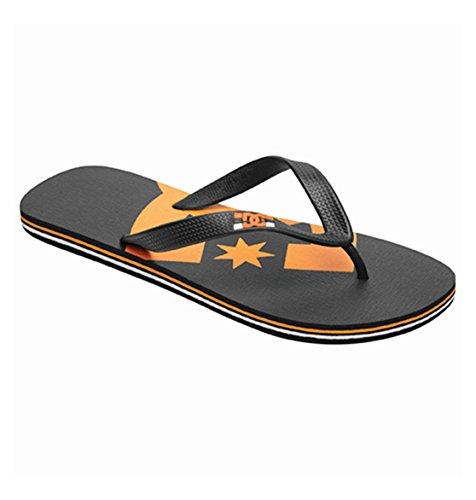 Dc Men'S Spray Graffik Sandal,Black/Orange-10,12 M Us front-787744