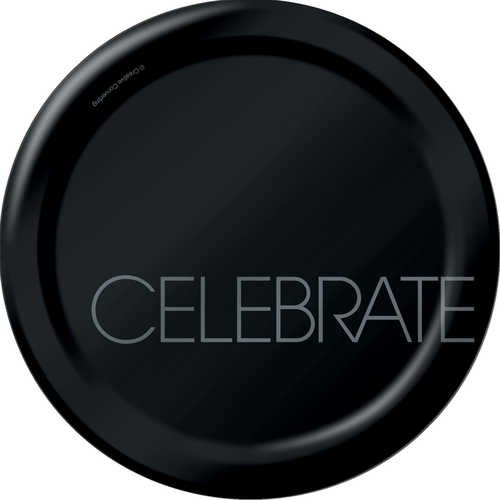 Creative Converting Classic Celebrations Round Dinner Plates, 8-Count, Celebrate