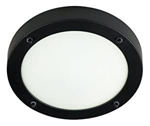 Ranex Wetline 3000.051 40 Watt Ranex Wetline Verona Black Steel and Glass Bathroom Ceiling Light, Black from Smartwares Safety & Lighting
