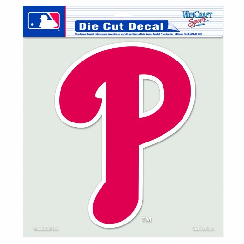 MLB Philadelphia Phillies 8-by-8 Inch Diecut Colored Decal at Amazon.com