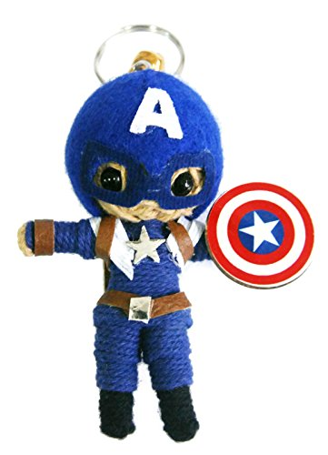Captain America The Winter Soldier Voodoo String Doll Keychain Keyring