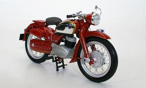 NSU Super Lux, dkl.-rot, 1954, Modellauto, Fertigmodell, Schuco 1:10