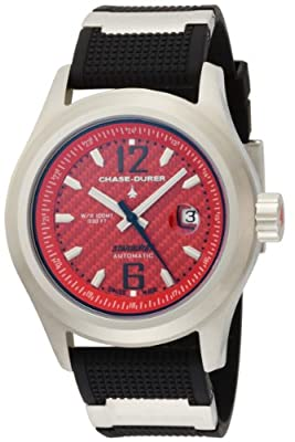 Chase-Durer Men's 990.2RB-RUBB Starburst Automatic Red Carbon Fiber Dial Watch