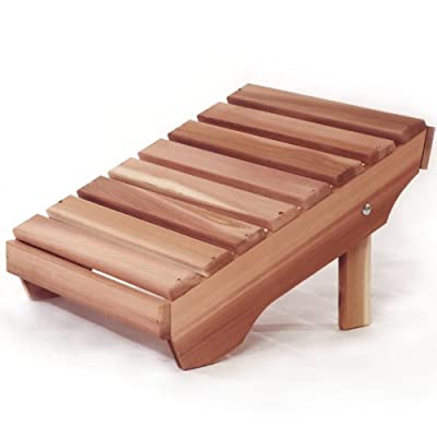Western Red Cedar Adirondack Ottoman - Patio and Garden Furniture