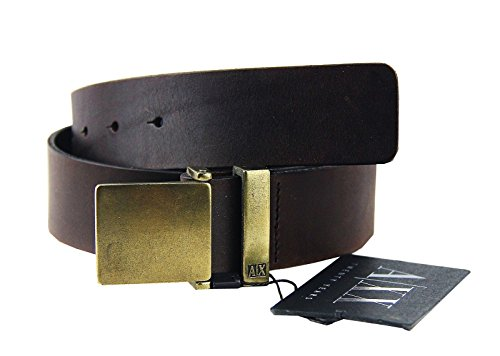 AX-ARMANI-EXCHANGE-LIMITED-ED-20-YEARS-BELT-BROWN-100-LEATHER-BRAND-NEW-SZ-32