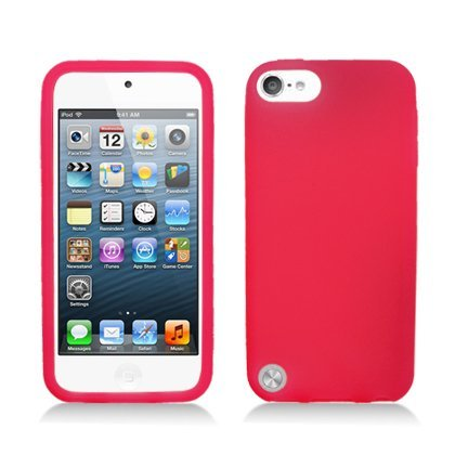 Evecase Ipod Touch 5 Case, Silicone Skin Soft Cover Case For Apple Ipod Touch 5 5G 5Th Generation (2012 Version) (Red)