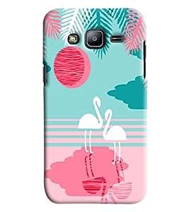 Blue Throat White Ducks Printed Designer Back Cover/ Case For Samsung Galaxy J2