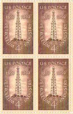 Petroleum Industry Set of 4 x 4 Cent US Postage Stamps NEW