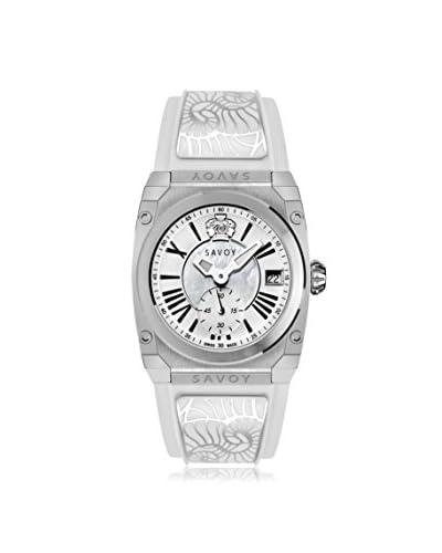 Savoy Women's Icon Light 35 mm White Strap/White MOP Dial Watch