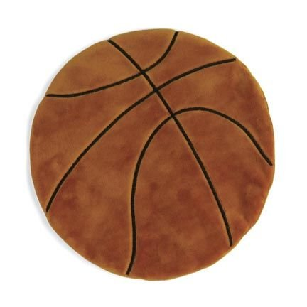 North American Bear Co. Sports Collection Baby Cozies (TM) Plush Basketball Toy Blanket- Small Size Is Perfect for Baby!