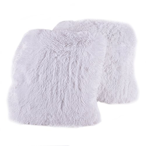 Big Comfy Throw Pillows : Sweet Home Collection Plush Pillow Faux Fur Soft and Comfy Throw Pillow (2 Pack) - White - pet ...