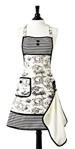 Jessie Steele Bib Gigi French Toile with attached Towel