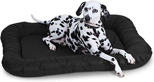 knuffelwuff-lucky-lit-pour-chien-pour-interieur-et-exterieur-xl-88-x-73cm-noir-angulaire-hydrofuge
