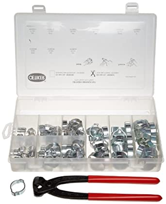 Oetiker 18500057 Service Kit (2-Ear Clamps, zinc plated with side jaw pincers)